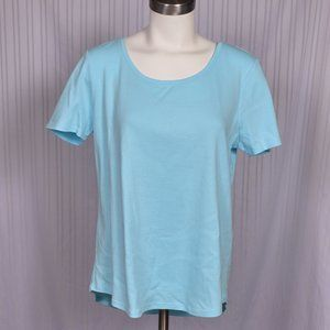 4/$25 Chico's The Ultimate Tee Size 2 Lt Blue